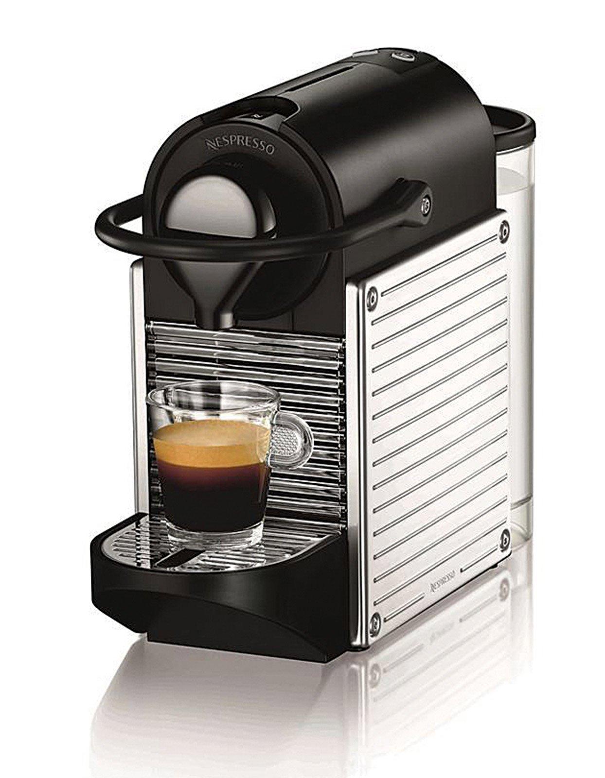 1 machines nespresso pixie steellines l cose di casa. Black Bedroom Furniture Sets. Home Design Ideas