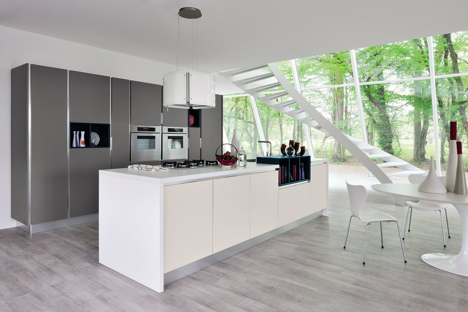 La cucina con l 39 isola monocromatica o bicolore cose di casa for Modele de cuisine design italien