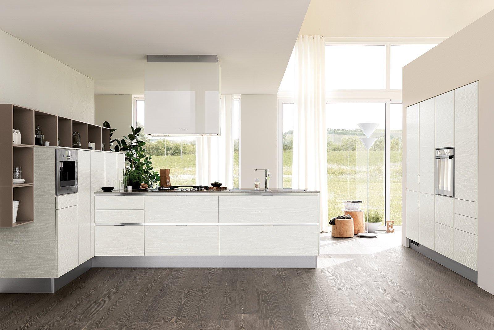 Cucine bianche moderne cose di casa for Case moderne interni open space