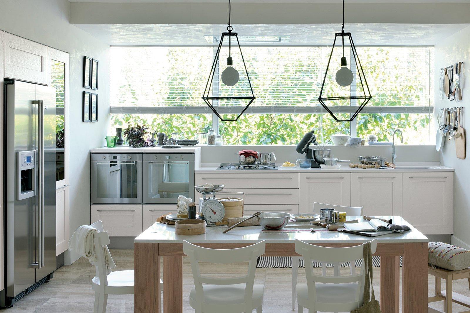 La nuova cucina country new classic cose di casa - Cucine senza pensili sopra ...