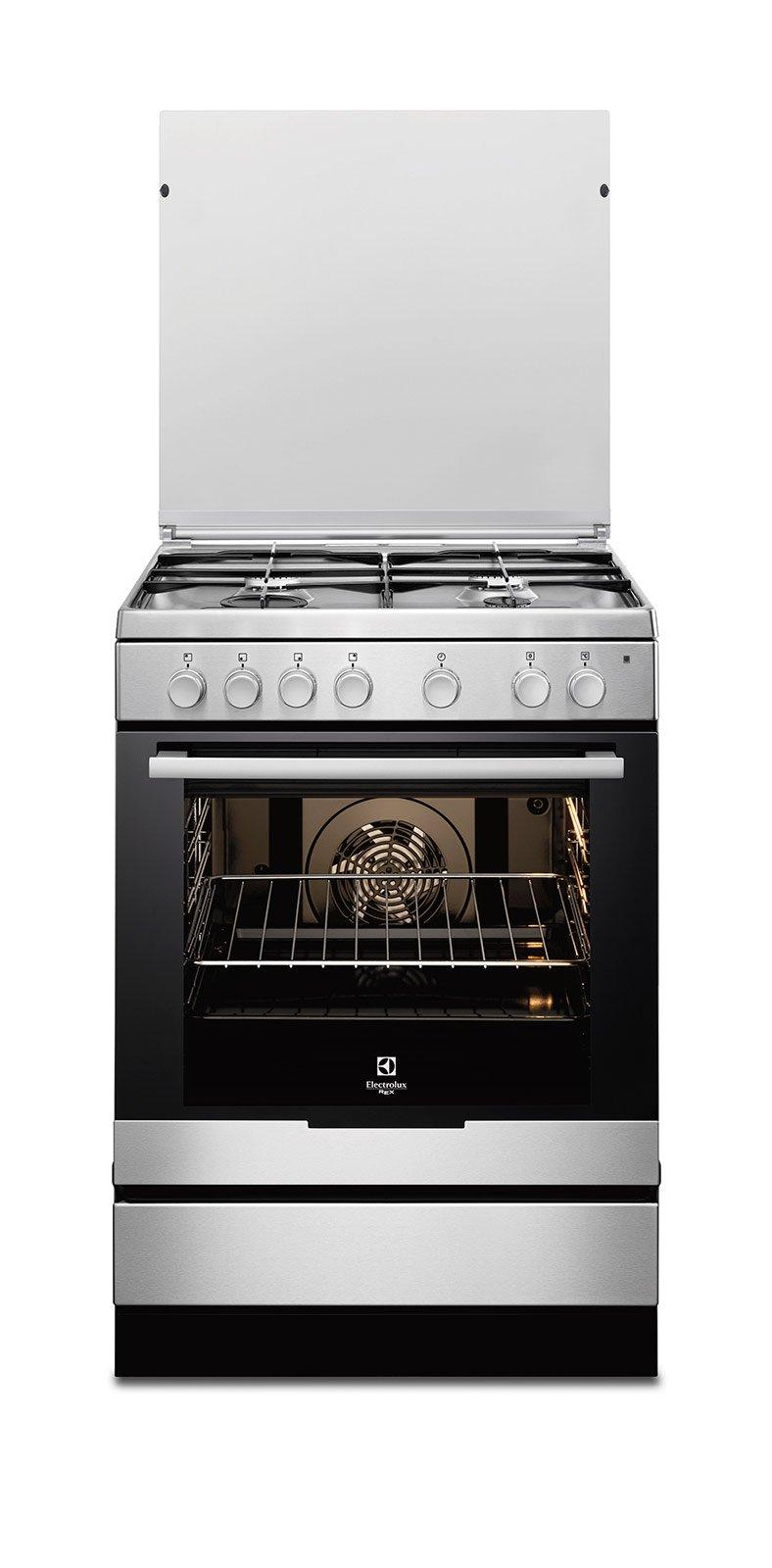 Great ... La Cucina InfiSpace RKK 6130 AOX Di Electrolux Rex Con Piano Cottura A  Gas, Ha ...