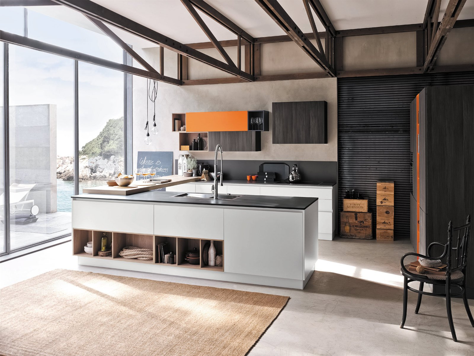 mensole design cucine moderne : Replay Next di Stosa si caratterizza per i colori inediti, raffinati e ...