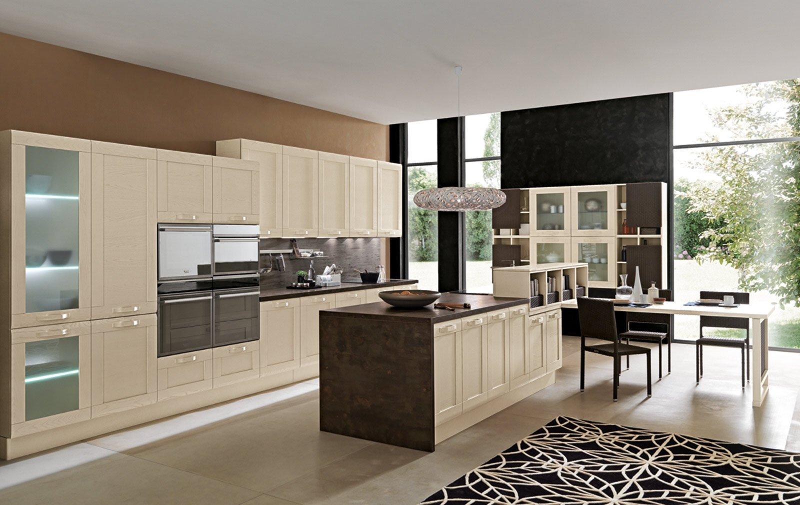 La cucina con l 39 isola monocromatica o bicolore cose di casa - Cucine febal immagini ...