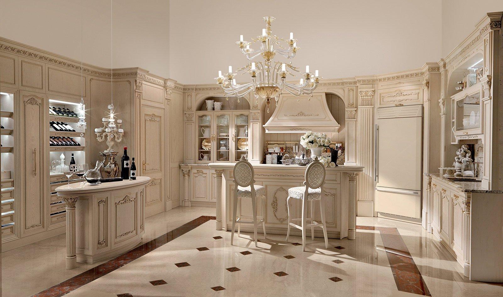 Cucine in stile cose di casa - Mobili rivestiti in pelle ...