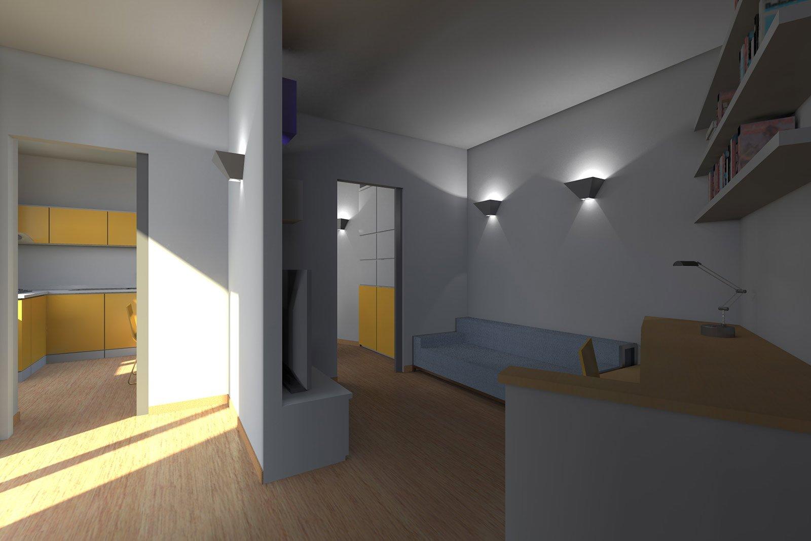 Zona giorno open space come separare le funzioni cose for Pianta da salotto