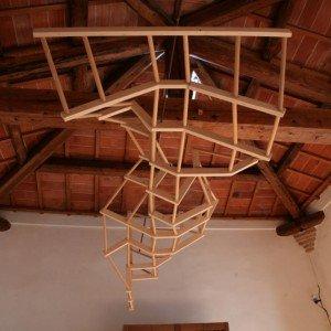 Morph di Eoos Design Produzione Morelato 2004 Scultura in legno di acero (L360 P120 H150)