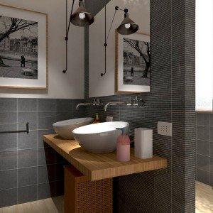Rifare il bagno progetto in 3d con lavatrice nascosta - Progetto bagno 3d gratis ...