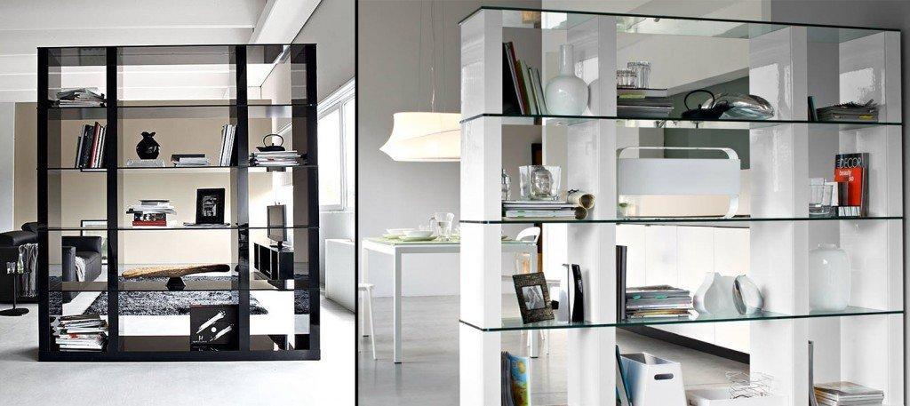 Librerie bifacciali per separare ambienti cose di casa for Libreria salotto
