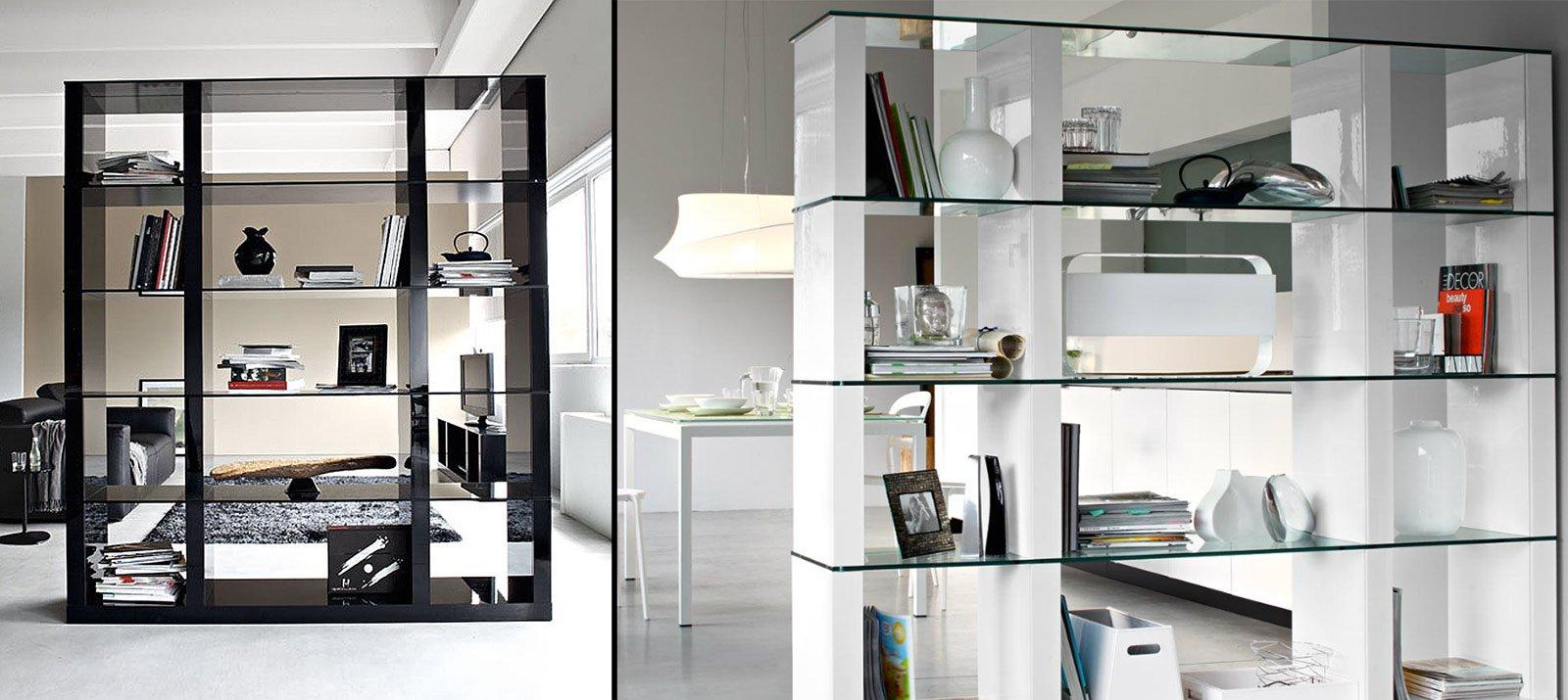 Librerie bifacciali per separare ambienti cose di casa - Mobili divisori ...