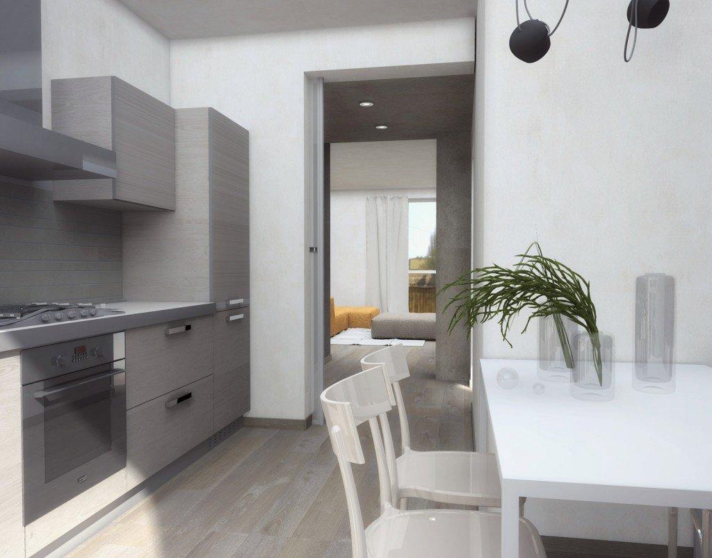 Zona giorno contemporanea progetto con pianta e prospetti in 3d cose di casa - Cose di casa genova ...