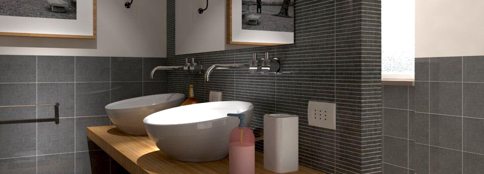 Rifare il bagno progetto in 3d con lavatrice nascosta cose di casa - Rifare il bagno da soli ...