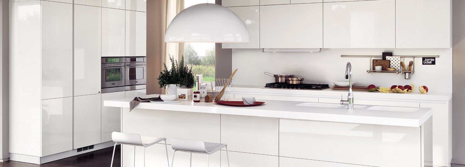La cucina con l 39 isola monocromatica o bicolore cose di casa for Cucine arredate