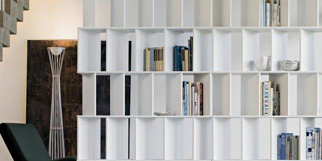 Librerie bifacciali per separare ambienti cose di casa - Mobili per separare ...