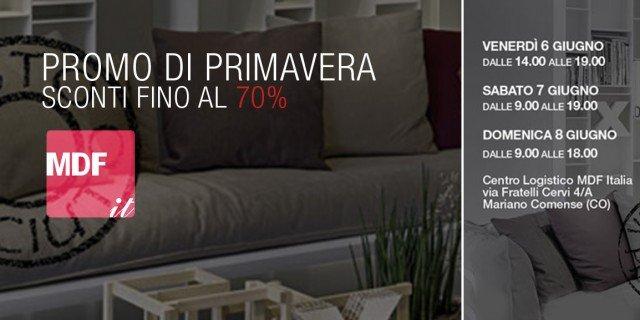 Mdf Italia: promozione di primavera. Sconti fino al 70%