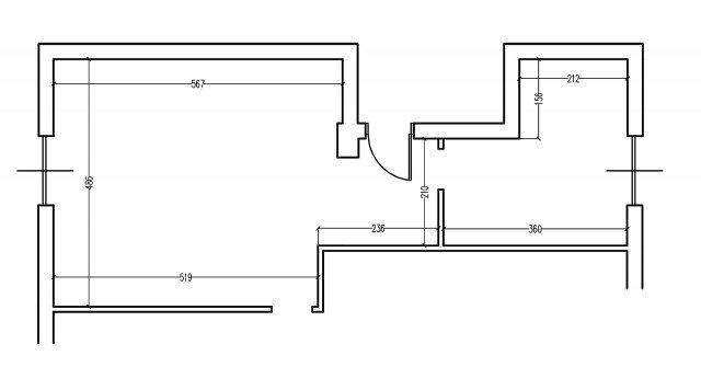Zona giorno contemporanea progetto con pianta e prospetti for Planimetrie con stanze segrete