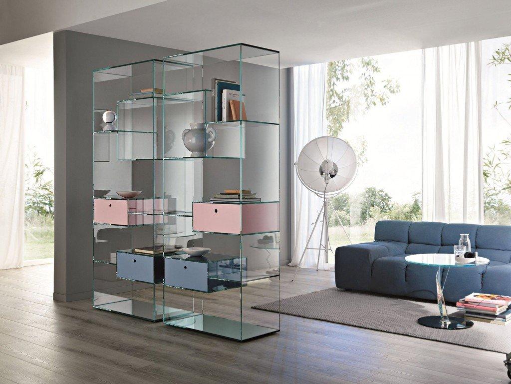 Librerie bifacciali per separare ambienti cose di casa - Separazione cucina soggiorno ...