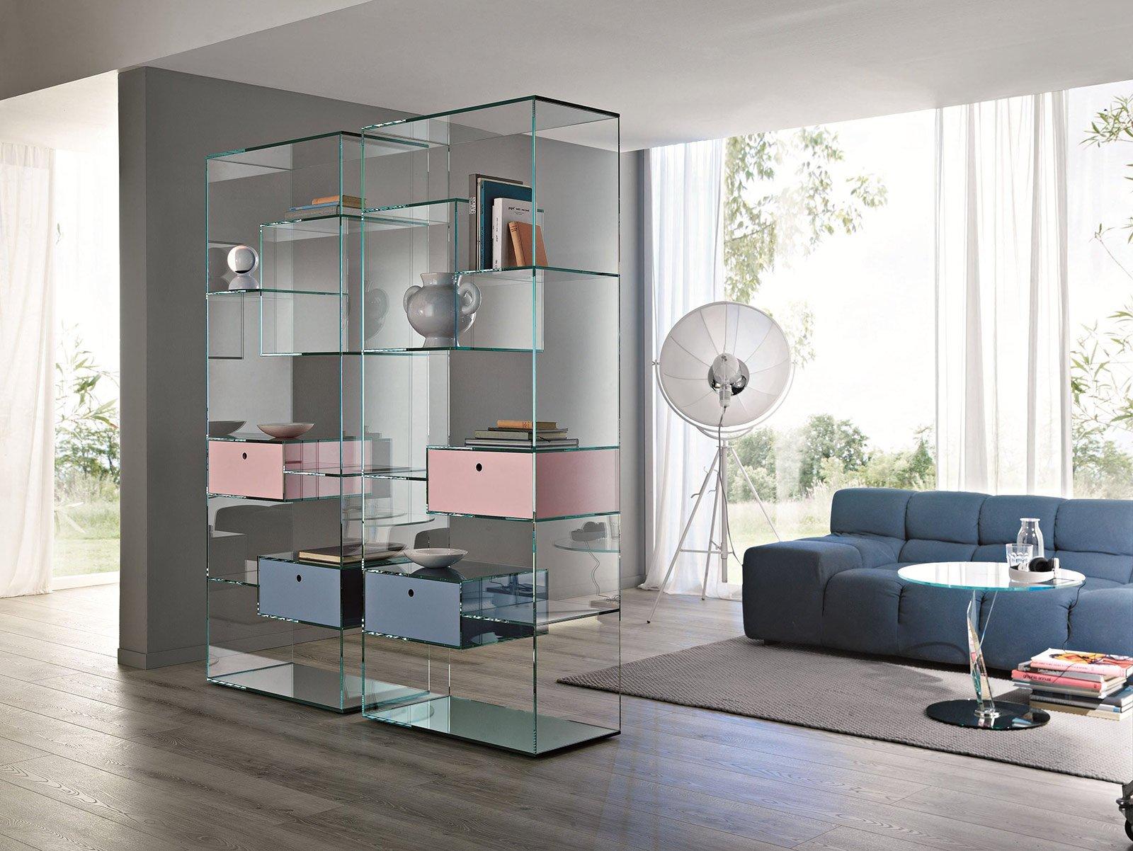 Librerie bifacciali per separare ambienti cose di casa for Libreria acciaio e vetro