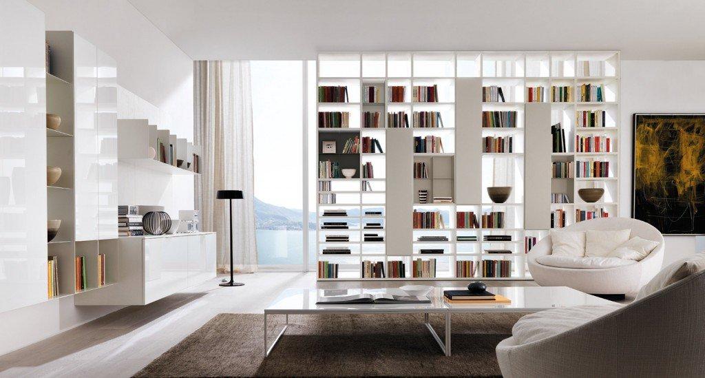 Librerie bifacciali per separare ambienti cose di casa - Dividere una porta finestra ...