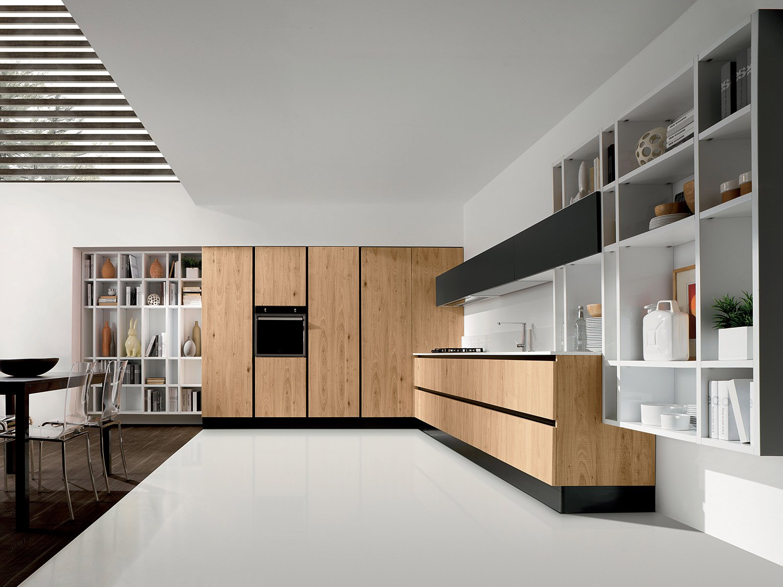 Cucine moderne in legno cose di casa for Cucine moderne scure