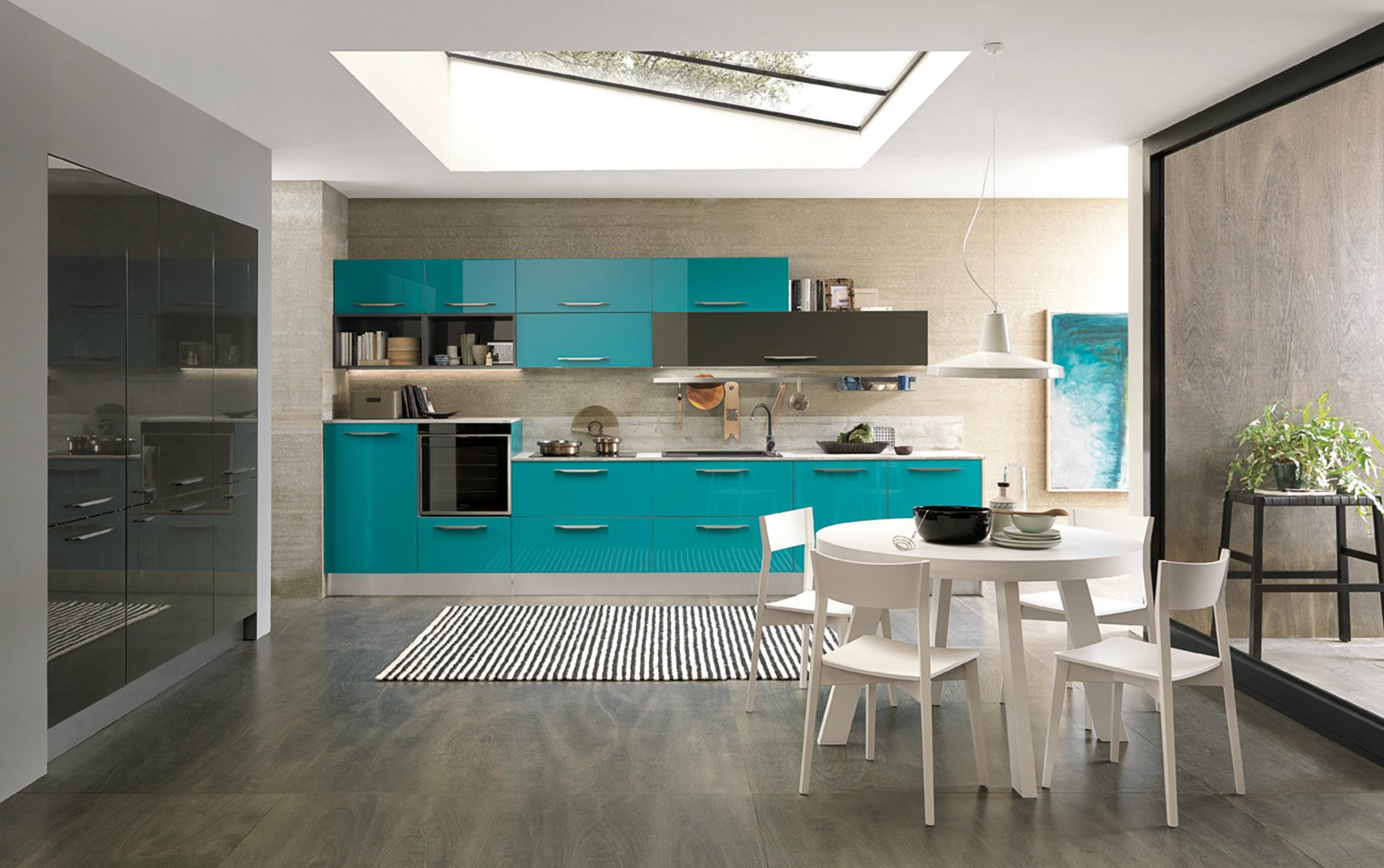 cucine colorate come un quadro contemporaneo cose di casa