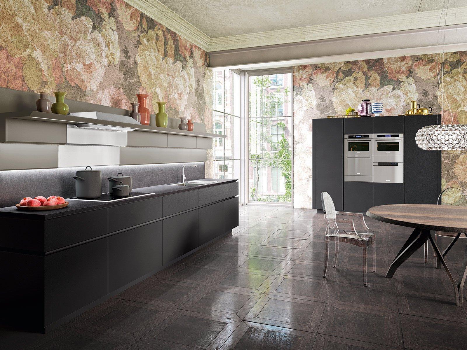 cucine con ante lisce. stile contemporaneo - cose di casa - Cucina Di Design Armadio Di Lusso