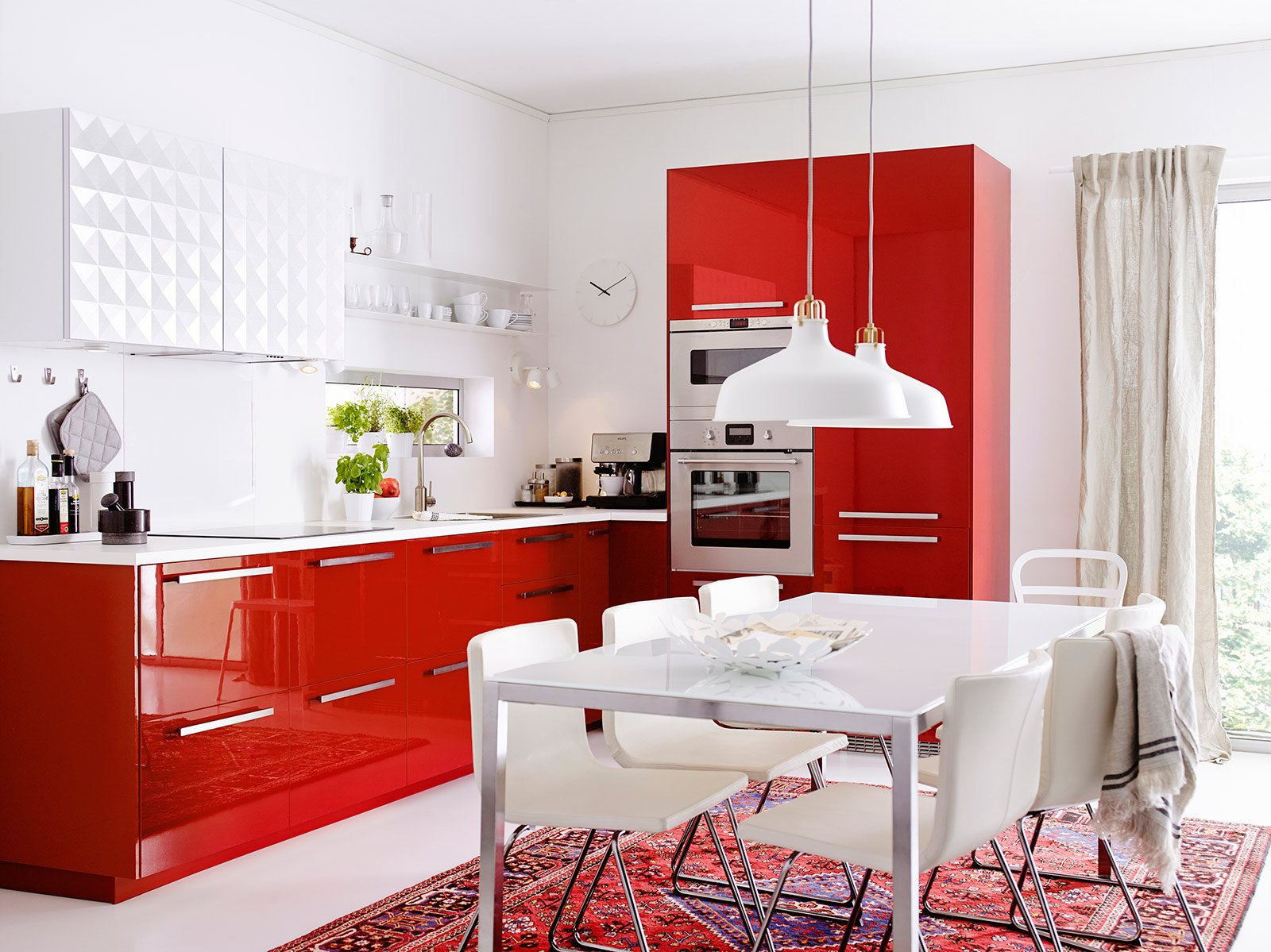 Cucine colorate come un quadro contemporaneo cose di casa for Precio cocina completa ikea