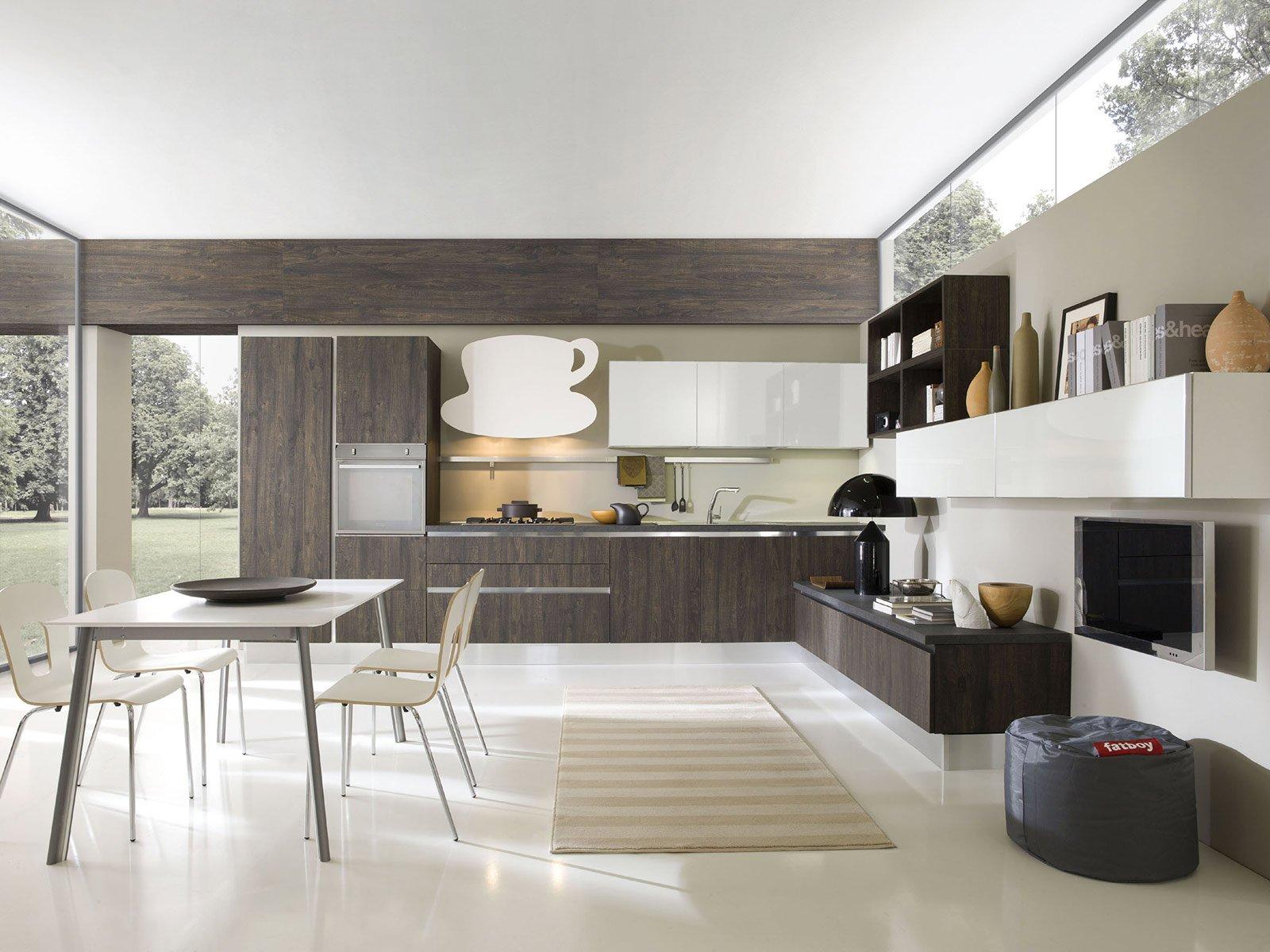Cucine Con Ante Lisce. Stile Contemporaneo Cose Di Casa #756A56 1600 1200 Aran O Veneta Cucine
