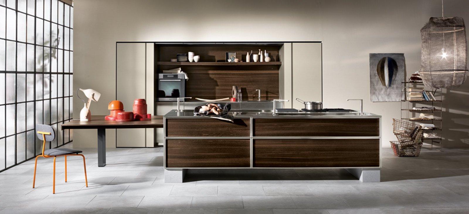 Cucine moderne in legno cose di casa - Cucine legno e acciaio ...