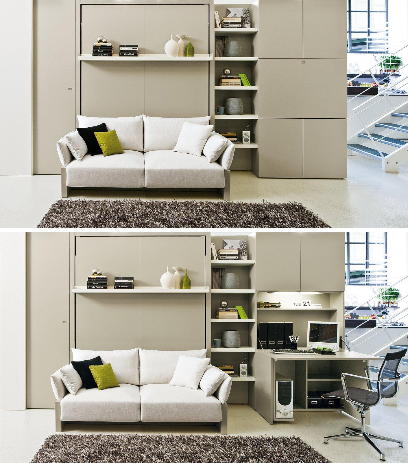 Mobili salvaspazio che si aprono e si chiudono cose di casa - Clei divano letto ...