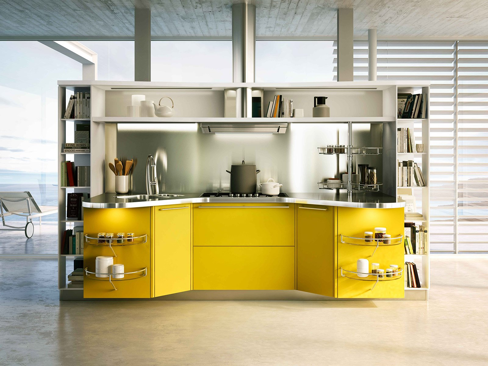 Cucine colorate come un quadro contemporaneo cose di casa for Cucine compatte