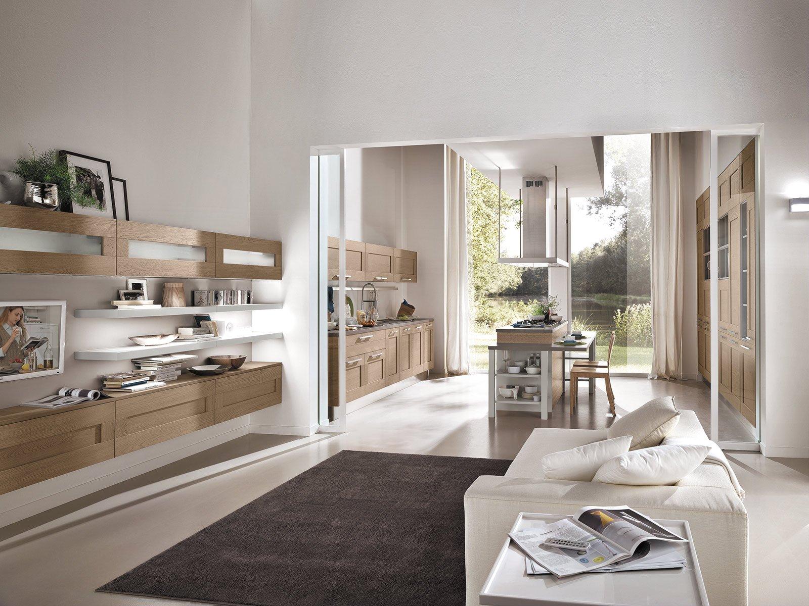 Cucine moderne in legno cose di casa - Colori pareti cucina in legno ...