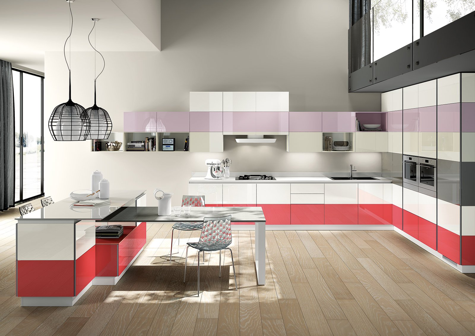 Cucine colorate come un quadro contemporaneo cose di casa - Scavolini cucine ...