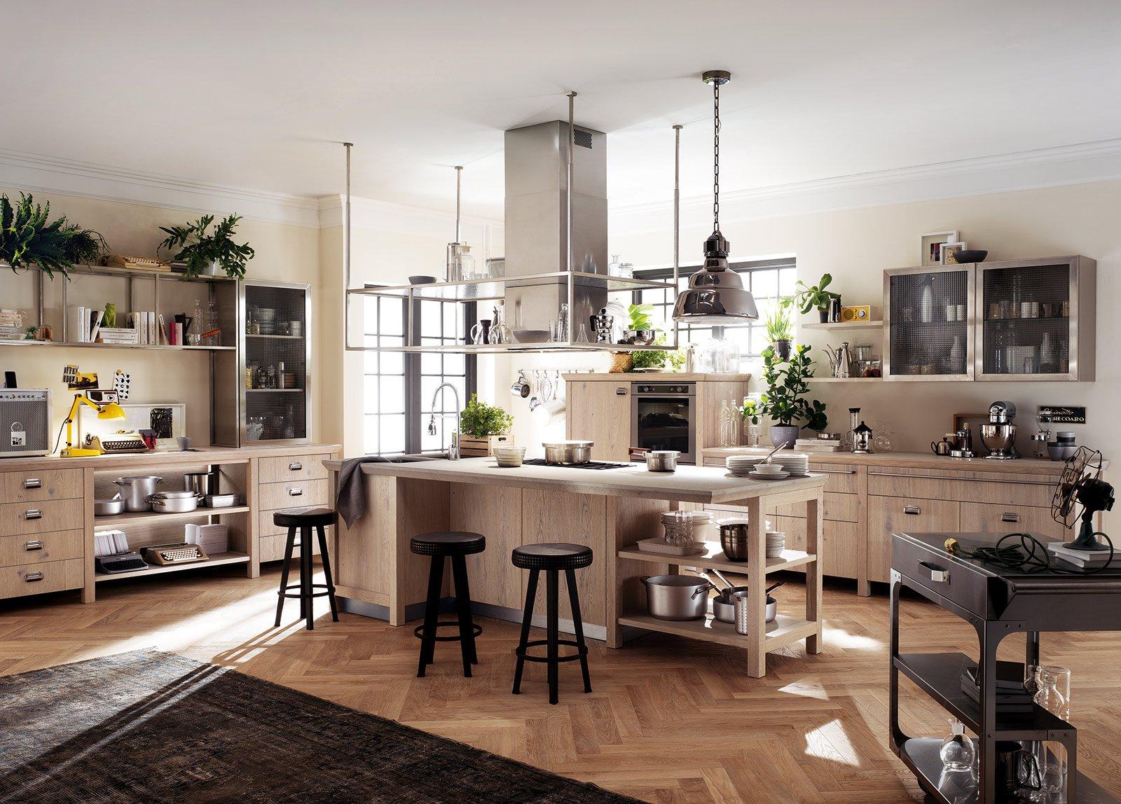 Stile vintage per Diesel Social Kitchen di Scavolini, la grande cucina ...