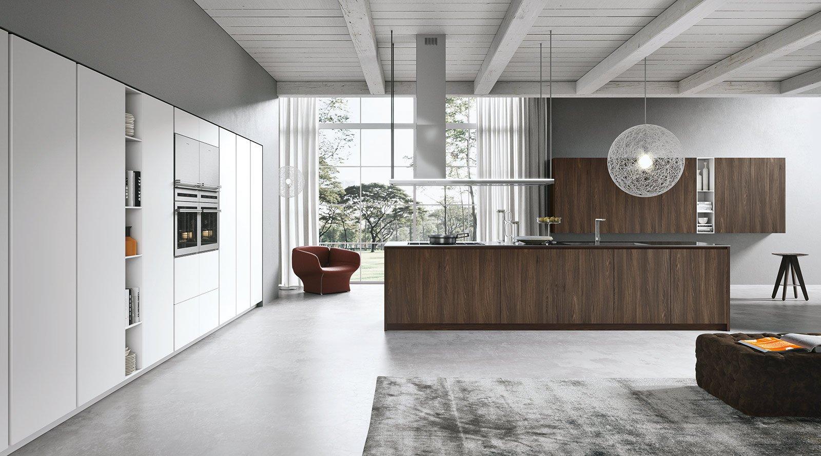 Cucine Con Ante Lisce. Stile Contemporaneo Cose Di Casa #5C4B3F 1600 889 Cucine Moderne Per Case Di Montagna