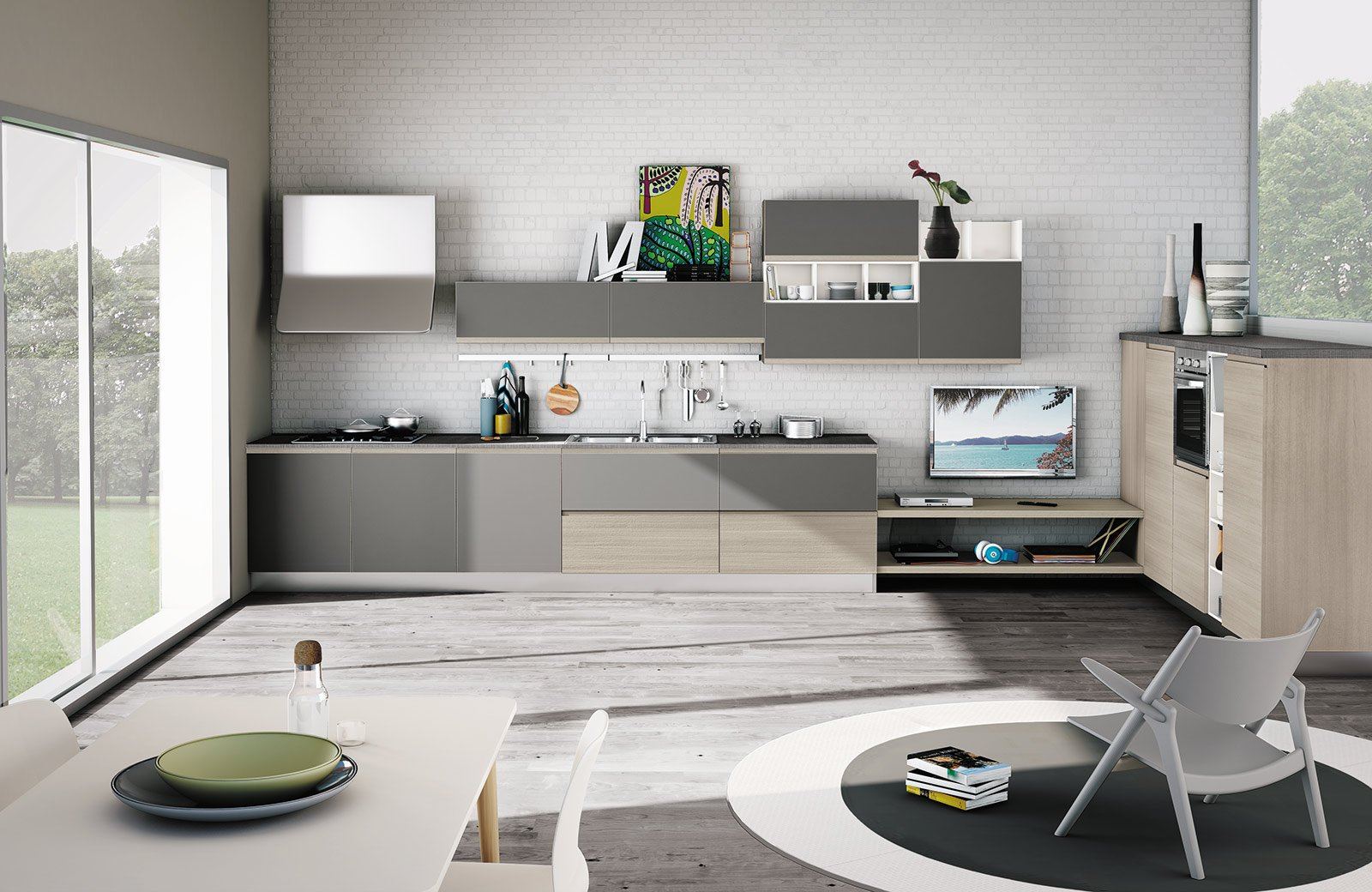 Cucine colorate come un quadro contemporaneo cose di casa - Top cucina ardesia ...