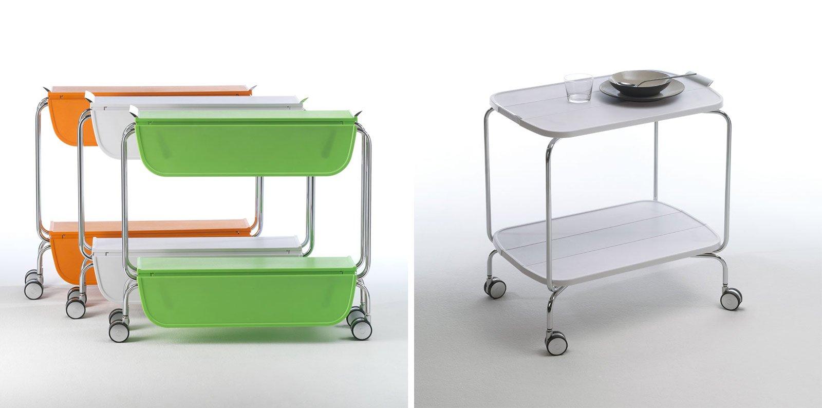 Consolle Carrello. Smart Di Pezzani è Realizzato In Acciaio Cromato E  #AF5D1C 1600 794 Carrello Cucina Ikea Acciaio