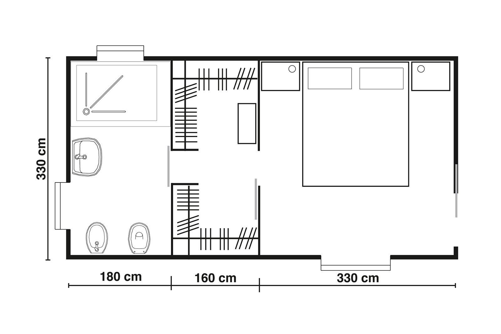 Cabine armadio progettiamo insieme lo spazio cose di casa - Planimetria camera da letto ...