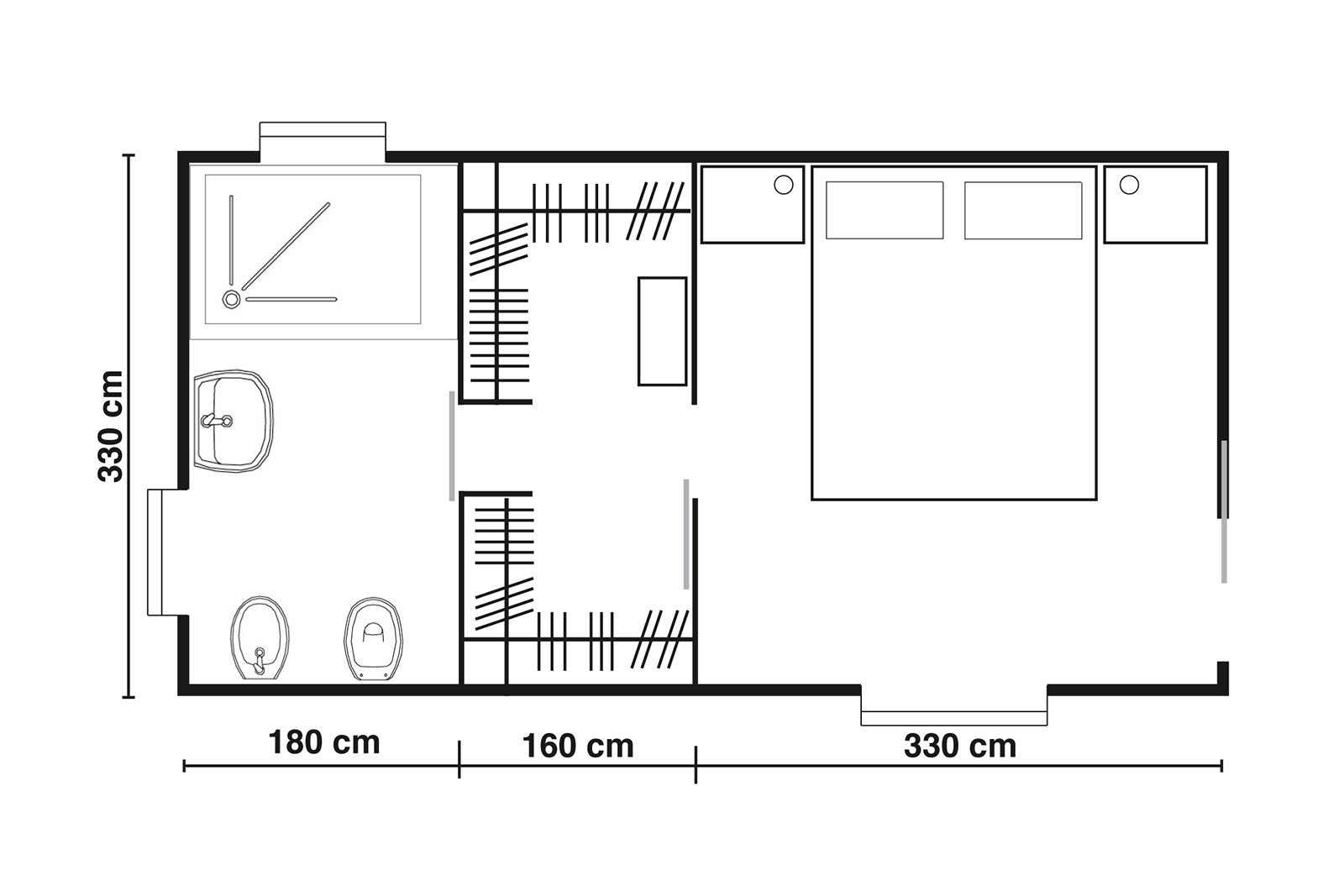Cabine armadio progettiamo insieme lo spazio cose di casa - Misure bagno minimo ...