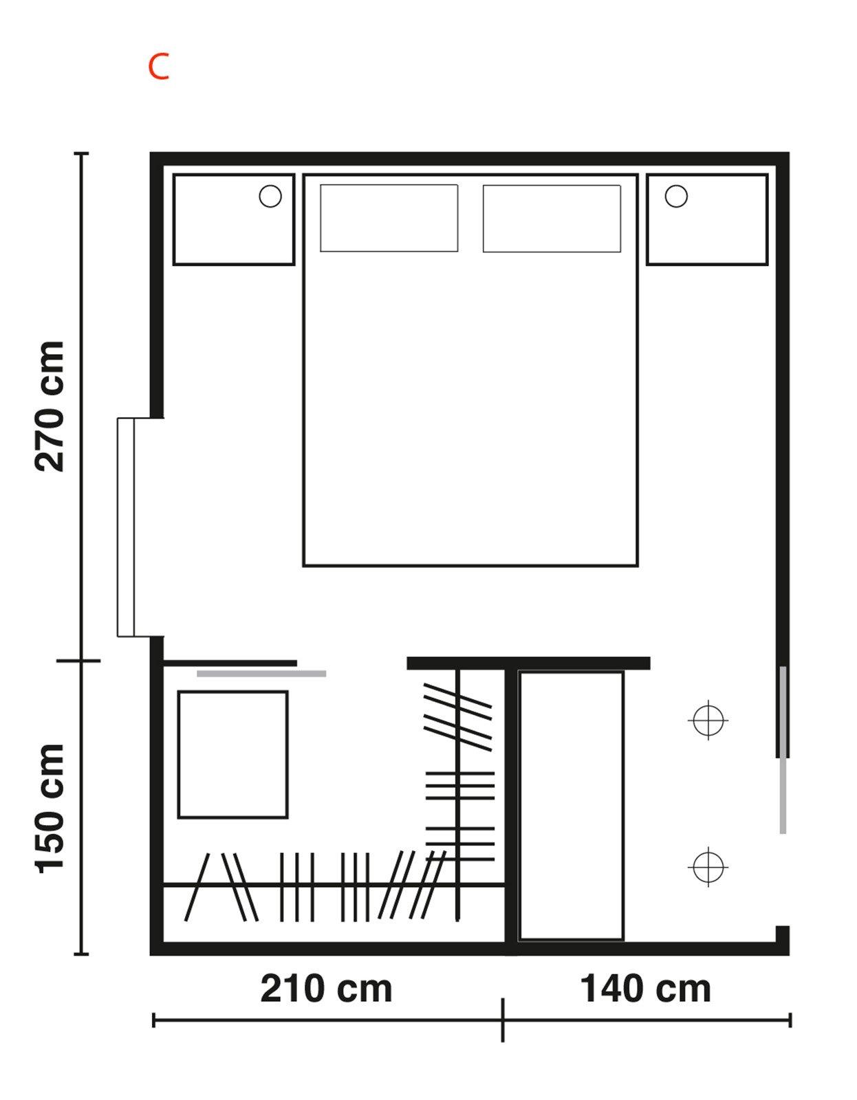 Cabine armadio progettiamo insieme lo spazio cose di casa - Camera da letto con cabina armadio ad angolo ...