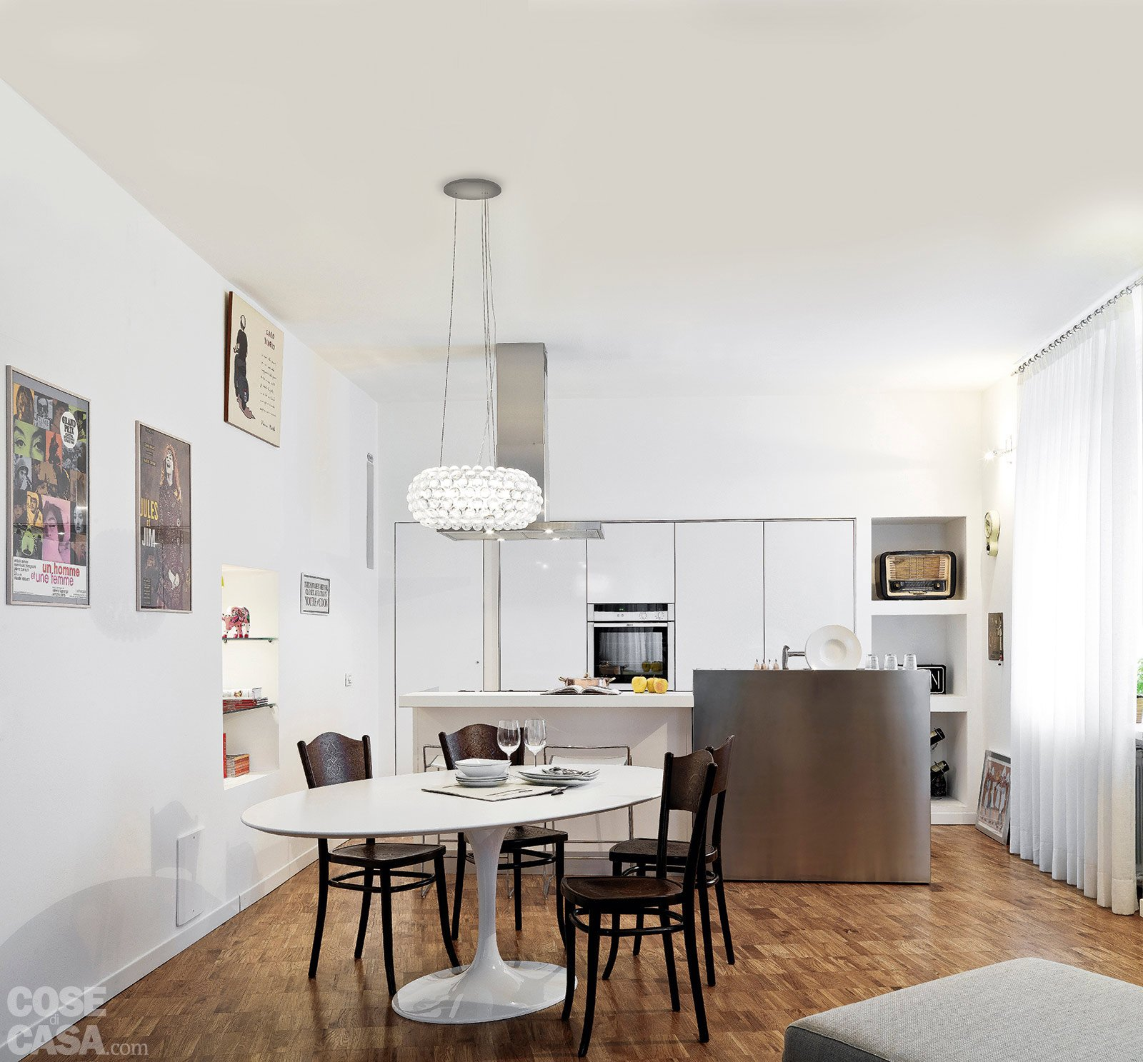 74 mq moltiplicati e ottimizzati cose di casa - Sala cucina 25 mq ...