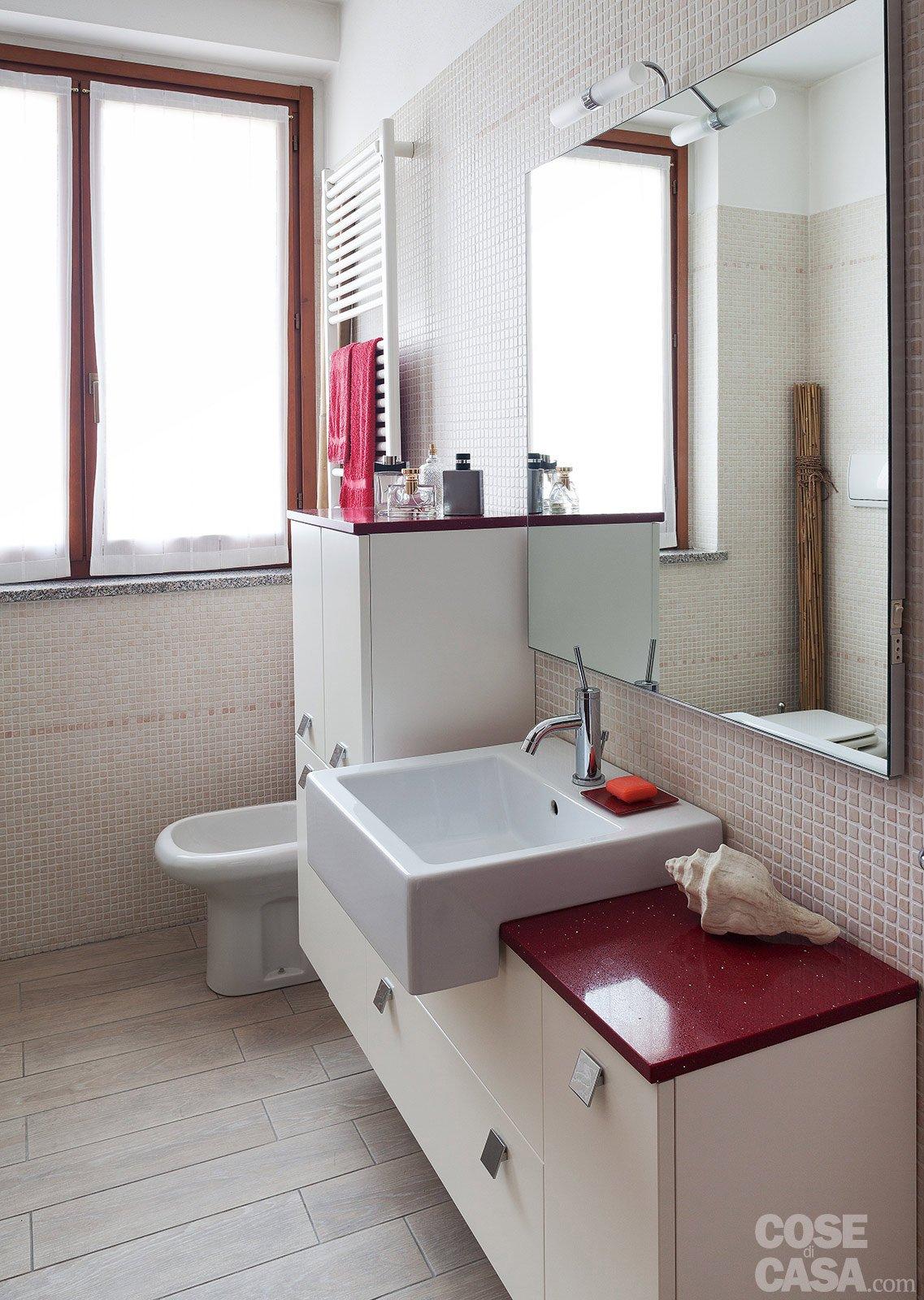Abbinamento mobili ciliegio - Tende bagno moderno ...
