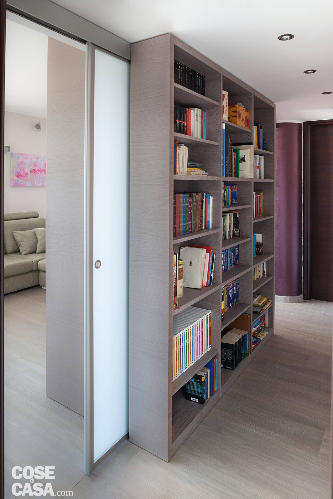 Suddivisioni ottimizzate per la casa di meno di 100 mq - Porta divisoria zona notte ...