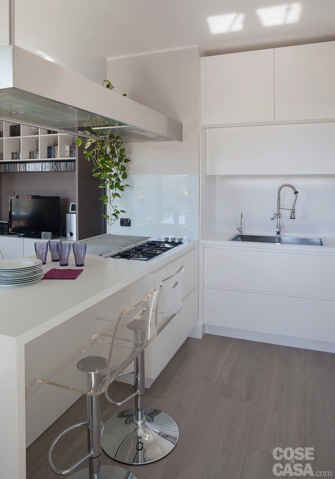 Cucina Con Cartongesso: Foto ristrutturazione cucina soggiorno con ...