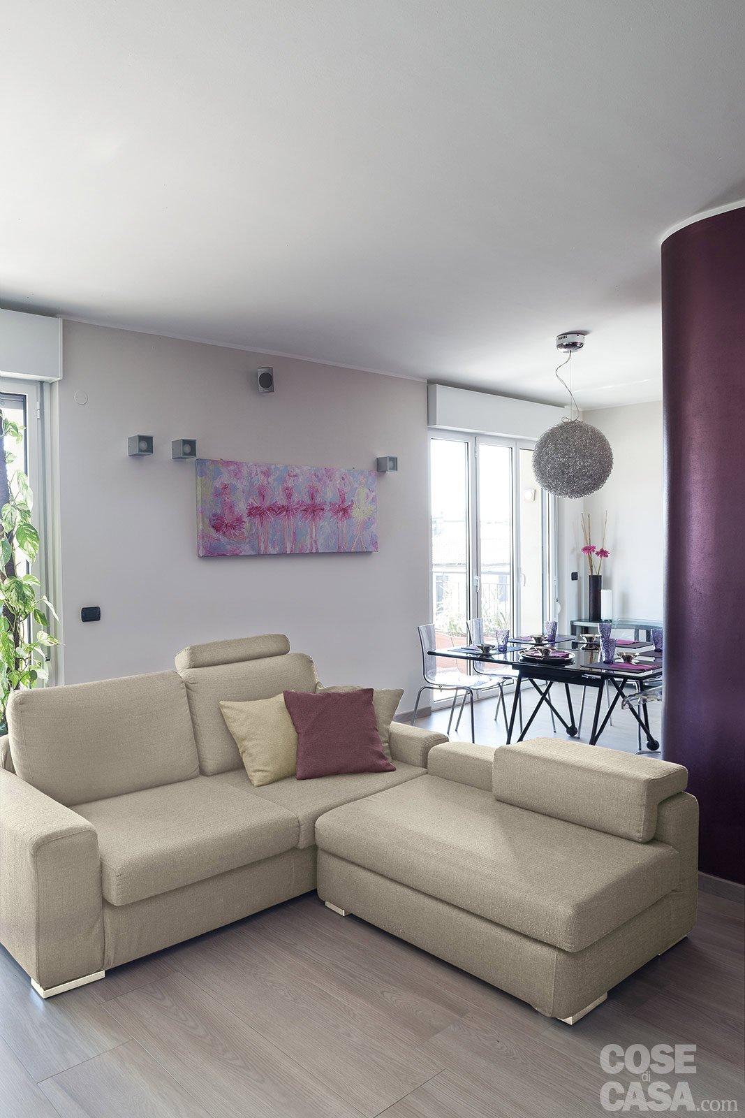 Suddivisioni ottimizzate per la casa di meno di 100 mq for Casa del divano