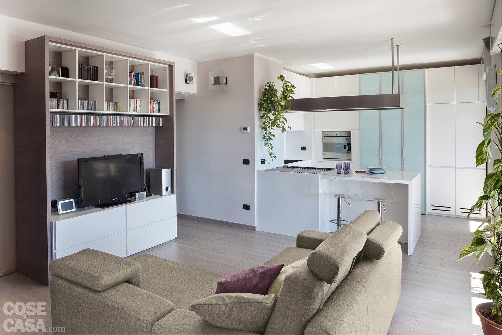 Suddivisioni ottimizzate per la casa di meno di 100 mq for Cucina soggiorno 15 mq