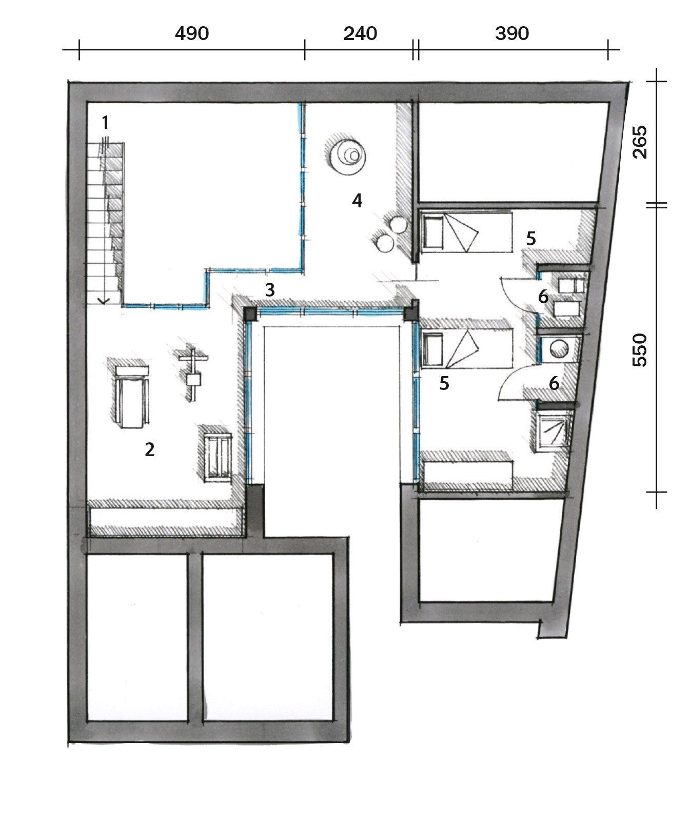 Una casa con un patio centrale che illumina e collega for Che disegna progetti per le case