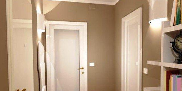 Tinta Per Pareti Color Tortora : Corridoio quali finiture per pavimento e porte cose di