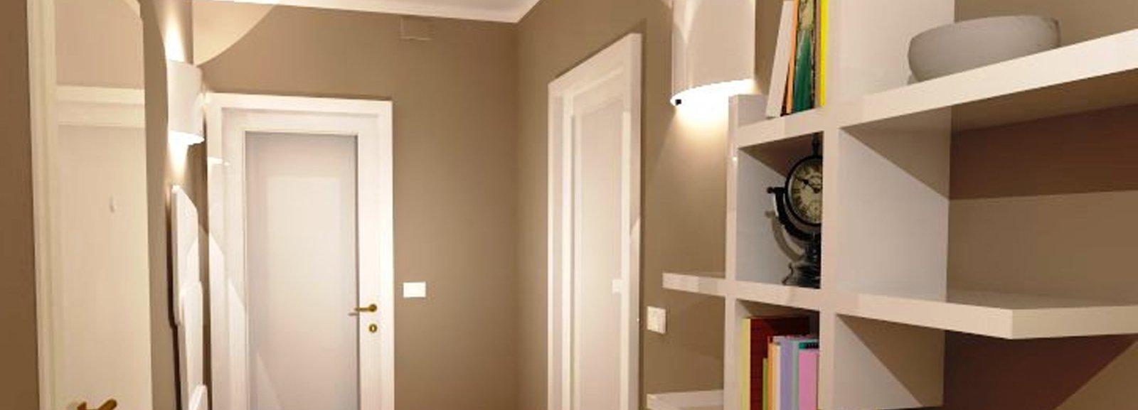 Porte Bianche Colore Pareti corridoio: quali finiture per pavimento e porte? - cose di casa
