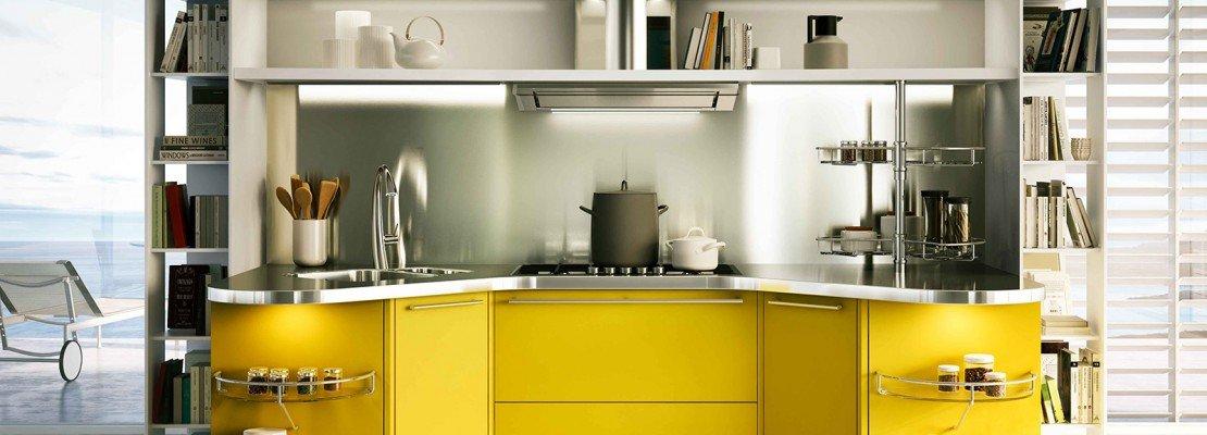 Cucine colorate come un quadro contemporaneo cose di casa - Cucina americana ...