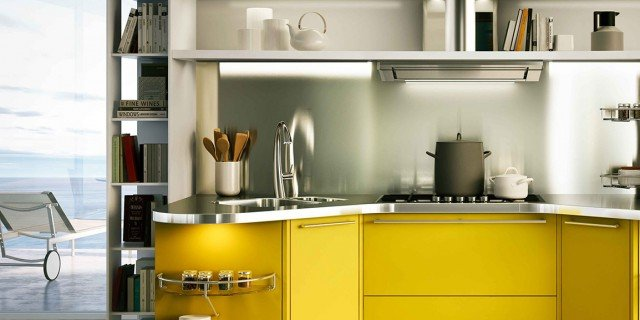 Cucine colorate. Come un quadro contemporaneo